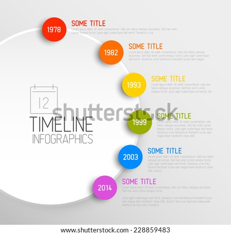 vector infographic timeline