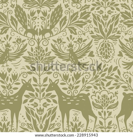 vector silhouette pattern with