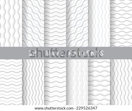 12 soft gray wave seamless