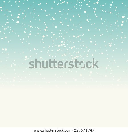 winter background with falling