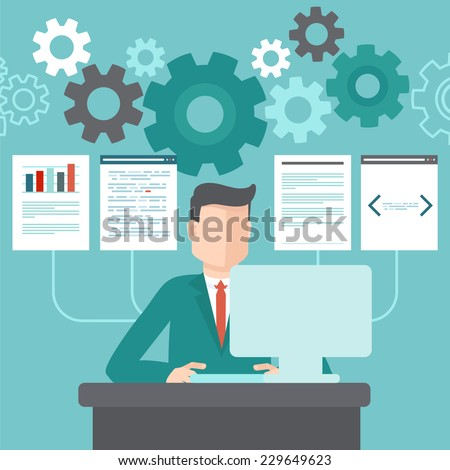 vector programmer working on