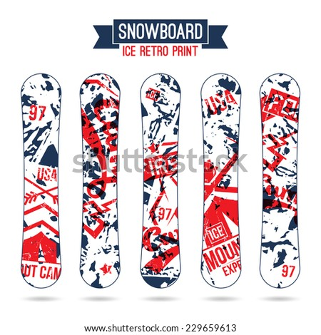 ice print for snowboard in