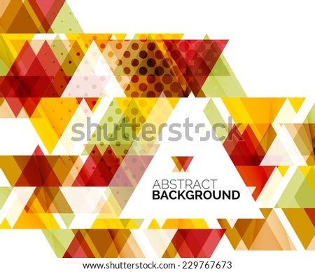 triangle geometric abstract