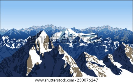 vector alpine alps mountain