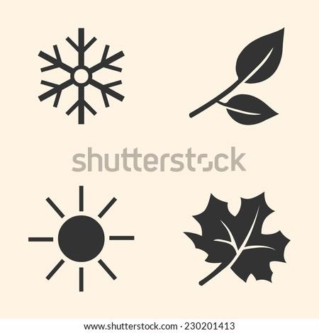 vector set of seasons icons