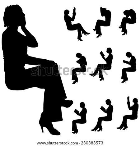 People sitting silhouette vector free vector download (10,080 Free ...