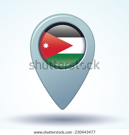 map pointer flag of jordan