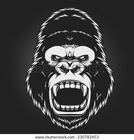 angry gorilla head