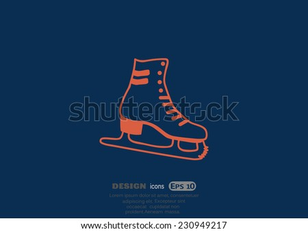 skates  web icon vector design