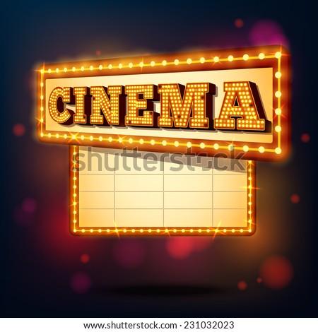 retro cinema marquee neon
