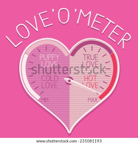 girl love o meter graphics  t