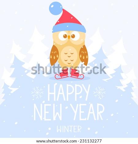 flat illustration for christmas