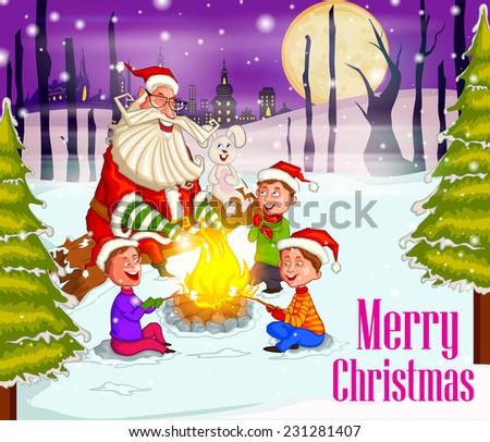 on holy christmas santa with