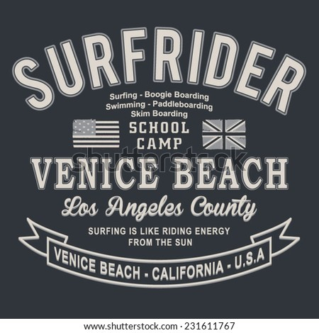 surf rider typography  t shirt
