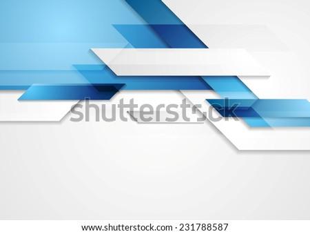 blue shiny hi tech motion