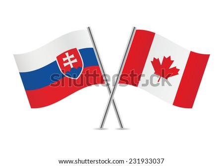 slovakia and canada flags