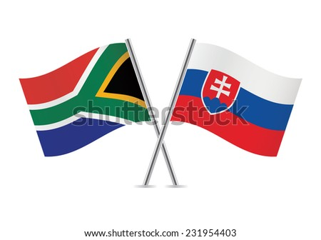 slovakia and south africa flags