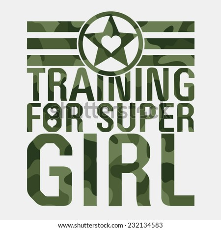 training girl military