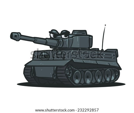 cartoon german tank ww2