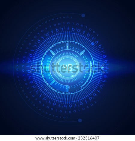 illustration of binary code on