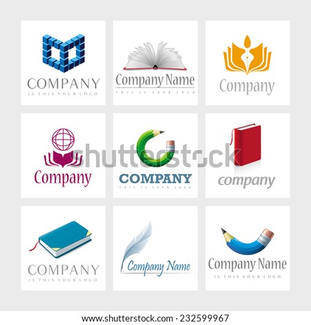set of 9 vector elements for