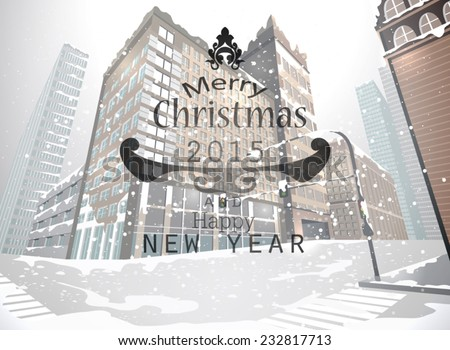 cityscape christmas greeting