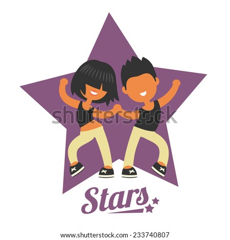 dance school logo  twosome