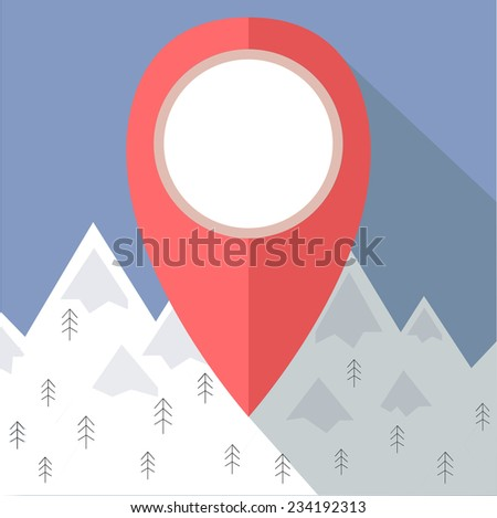 map pointer icon mountain view