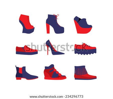 set of women's shoes