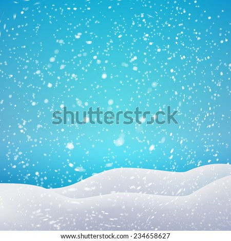 snowfall and drifts vector