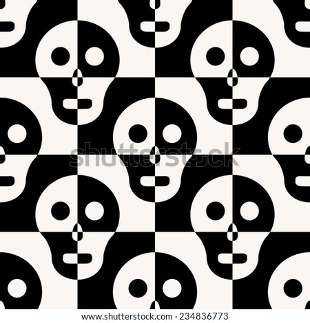 vector seamless skull background