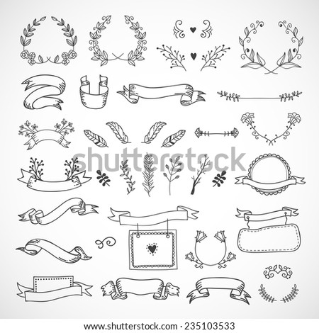 cute hand drawn design elements