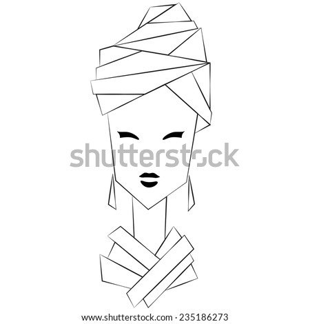 illustration of styled woman