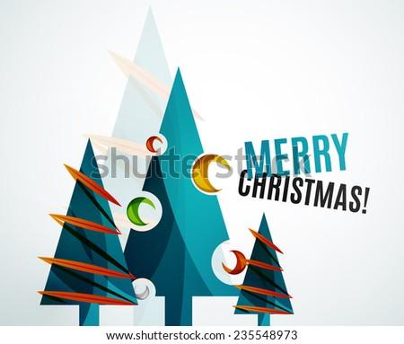 christmas tree geometric design