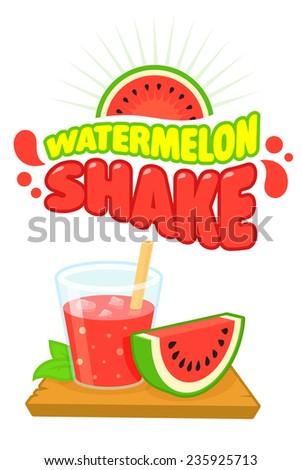 watermelon juice shake vector
