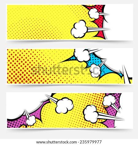 pop art comic book yellow