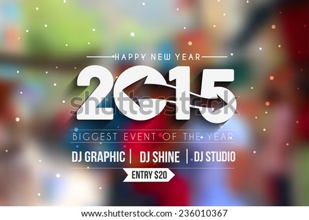 new year 2015 party flyer
