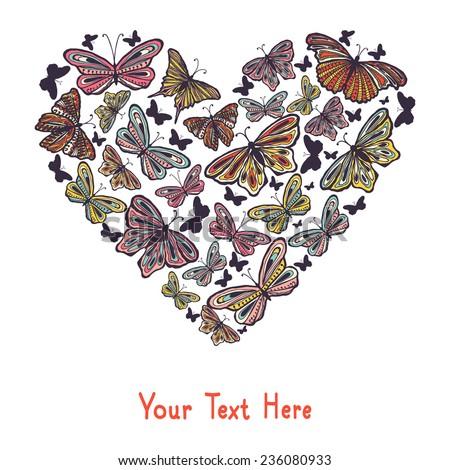 heart made of butterflies