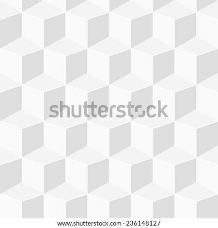 white geometric 3d background