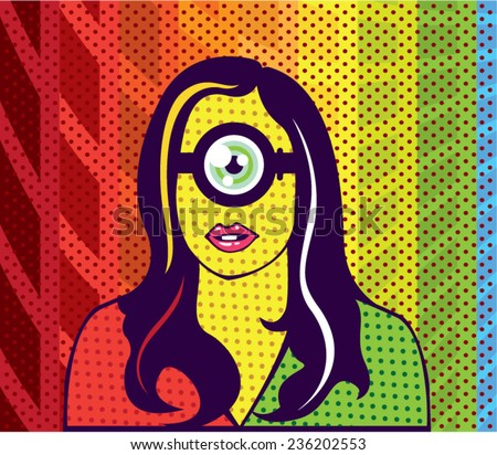 super smart alien nerd pop art