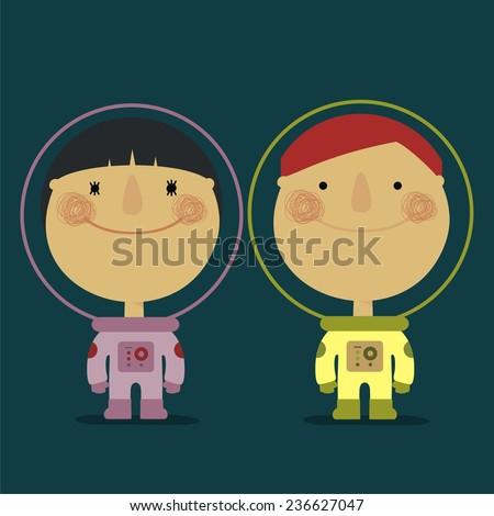 couple of astronauts