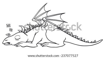 ute sleeping dragon vector