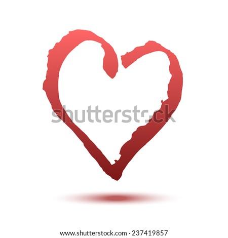 beautiful vector heart drawing