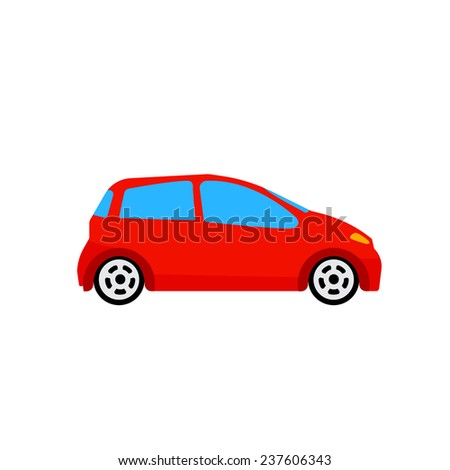 red car vector illustration