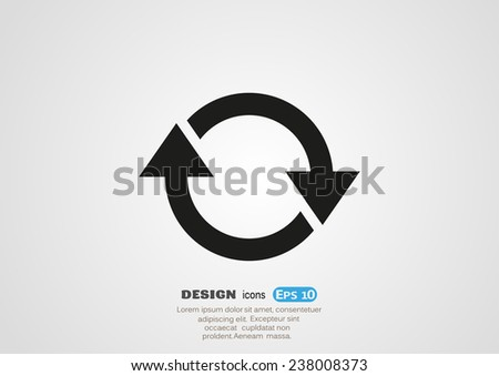 rotation arrows in a circle web