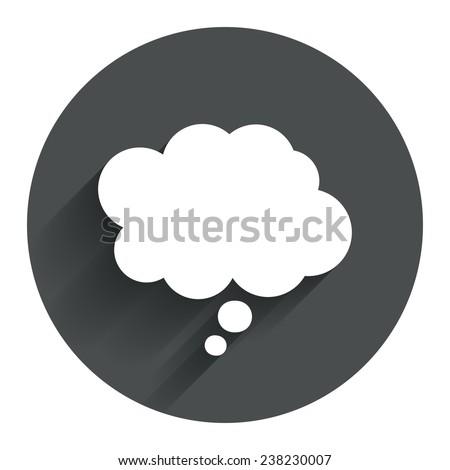 comic speech bubble sign icon
