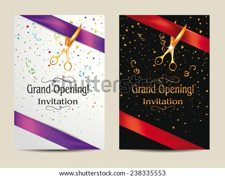 Showroom opening ceremony invitation card free vector download – Inauguration Invitation Card Sample