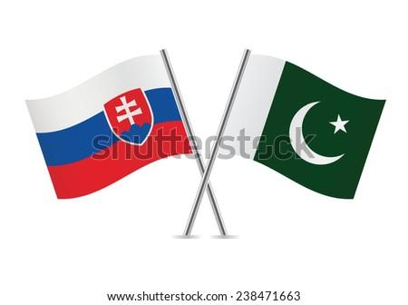 slovakia and pakistan flags