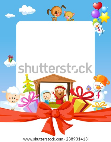 christmas frame   nativity with