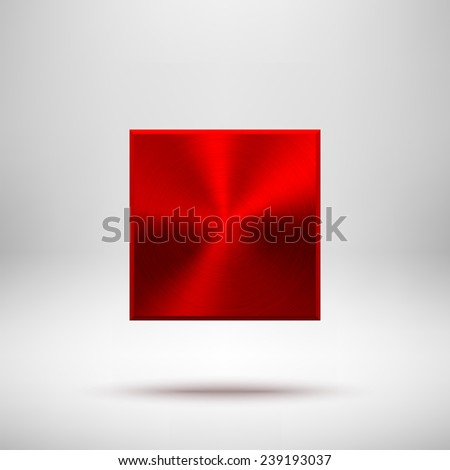 red abstract technology square